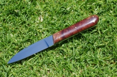 $180 Small Desk Knife in stabilised mallee handle. RWL34.